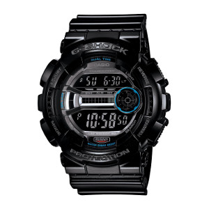 Casio Men's GD110-1 G-Shock Black Resin 60 Lap Digital Sport Watch