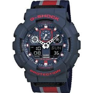 Casio G-Shock Military Cloth Red GA100MC-2A