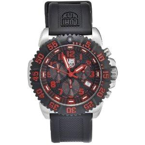 Luminox 3195 Stainless Colormark Chronograph Series - red marker
