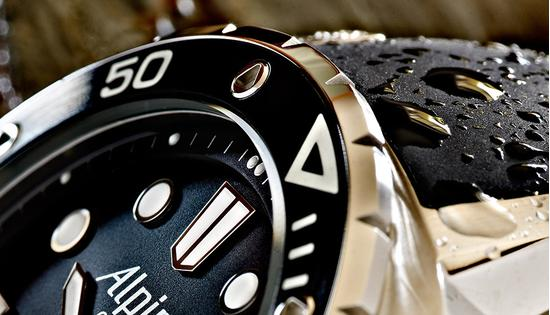 Alpina diver 1000m water-resistant watch for diving professionals
