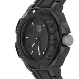Closer view of Luminox land sentry 0201 black special