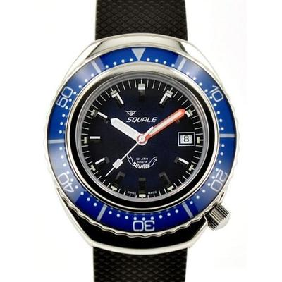 Squale 1000 meter professional swiss automatic dive watch 2002BL-R