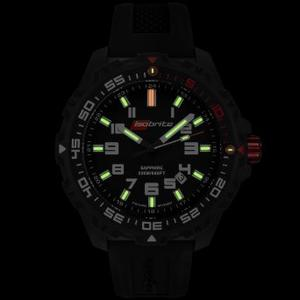 Bright illumination of ArmourLite ISOBrite T100 dive watch