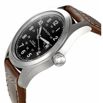 Side image of Hamilton Mens H70555533 Khaki Field Watch