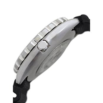Side view of Citizen Mens BN0000-04H Eco-Drive Professional Diver Black Rubber Strap Watch