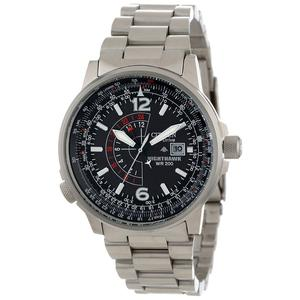 Picture of Citizen Mens BJ7000-52E Nighthawk Stainless Steel Eco-Drive Watch